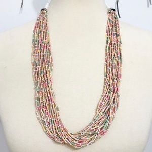 • Vintage • Quill Bead Necklace